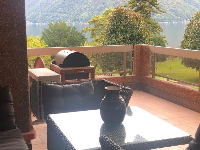 Affitto appartamento a Melide - Via Pocobelli - Terrazzo