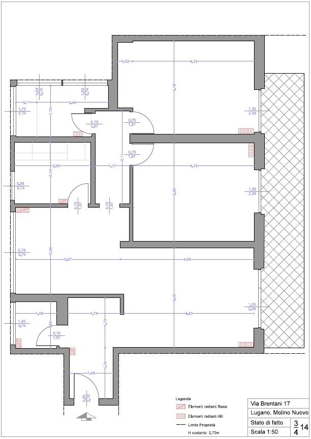 12 Appartamento - Lugano - Via Brentani 17 - Planimetria