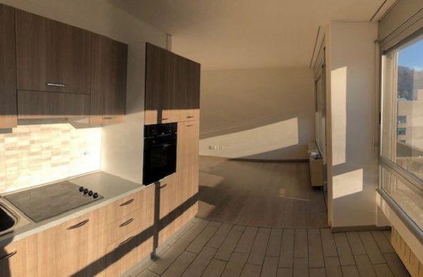 Affitto a Chiasso - Via Albrici - cucina soggiorno
